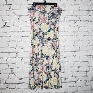 Rose Print LuLaRoe Maxi Skirt